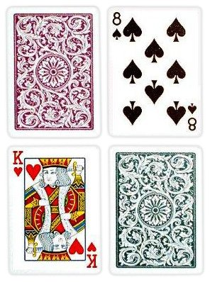 Copag Bridge Size Regular Index 1546 Playing Cards (Green Burgundy Setup)