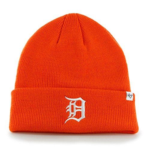 Detroit Tigers Orange Cuff Beanie Hat - MLB Cuffed Winter Knit Toque Cap (Toque Knit Hat)