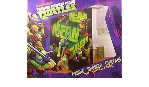 Amazon Teenage Mutant Ninja Turtles Fabric Shower Curtain Home Kitchen