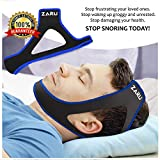 ZARU Premium Anti Snore Chin Strap [2019 Upgraded Version] - Advanced Snoring Solution Scientifically Designed to Stop Snoring Naturally and Give You The Best Sleep of Your Life! (.Black.)