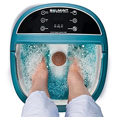 Spa Foot Massager with Heat, Feet Soaking Tub Spa Bath Features Vibration, Spa Roller Massage Modes, 6 Pressure Node Rollers Stress Relieve Fatigue & Tens, Tired Feet Foot Massager Machine