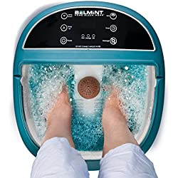 Belmint Foot Spa Massager Machine with Heat Function, O2 Bubbles Massage, 6 Pressure Node Rollers, Features LCD Screen for Adjusting Massage Modes to Soothe Tired Muscles, Relieve Fatigue & Tensions