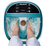 fatigue Foot Spa Bath Massager with Heat, Foot Soaking Tub Features Vibration, Bubbles and LCD Screen for Adjusting Massage Modes to Soothe Tired Muscles with 6 Pressure Node Rollers Relieve Fatigue & Tens