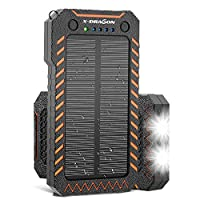 X-DRAGON Solar Charger 15000mAh Power Ba...