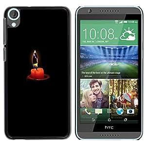 Caucho caso de Shell duro de la cubierta de accesorios de protección BY RAYDREAMMM - HTC Desire 820 - Deep Melancholy Black