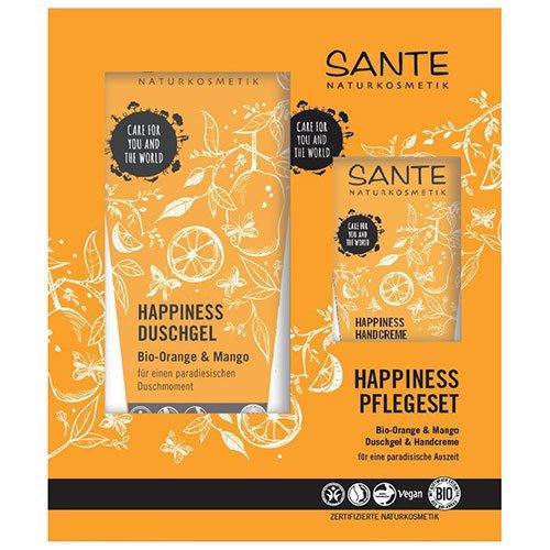 Sante: Happiness Geschenkset - Duschgel + Handcreme Bio-Orange & Mango