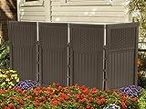 Suncast FSW4423 4 Panel Resin Wicker Outdoor Screen
