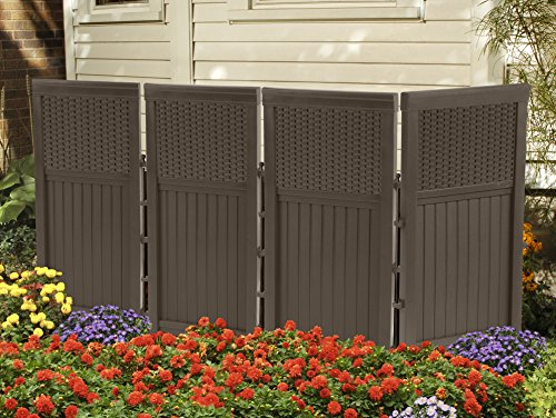 Suncast Fsw4423 4 Panel Resin Wicker Outdoor Screen Buy
