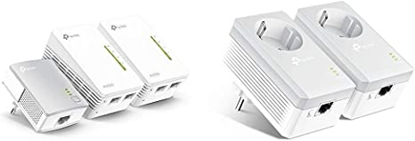 TP-Link TL-WPA4220 TKIT - Amplificador WiFi Repetidores de Red, Adaptadores Internet por Línea Eléctrica PLC AV600+AC300, 5 Puertos, Cable Ethernet (Pack de 3) + TL ...