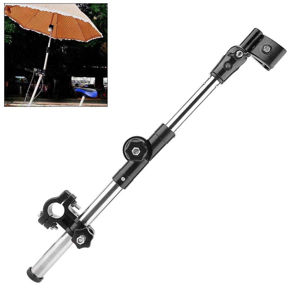 Simlug Soporte de Paraguas de Bicicleta Soporte de Paraguas antirrobo Grueso de Acero Inoxidable Soporte de Paraguas de Coche