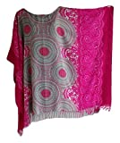 Trendyloosefit Plus Size Loose Fit Tops Beach Cover Ups One Size Bust 70'' (Pink)