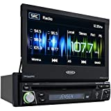 """Jensen VX4012 1 DIN Multimedia Receiver, 7"""" Touch Screen with Bluetooth, HDMI/MHL & Built-in USB Port (Black)"""