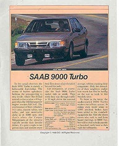 1989 Saab 900 9000 Turbo Original Sales Brochure