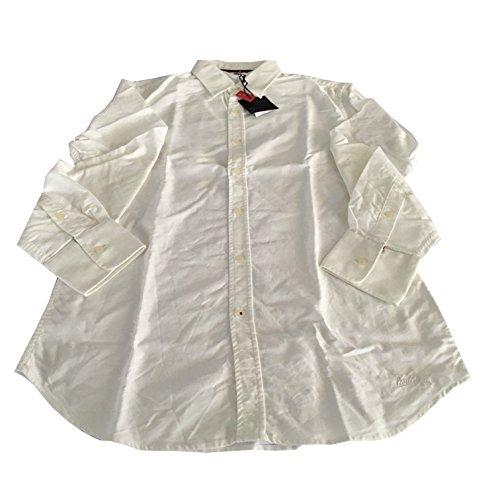 VINTAGE 55 linea LUXURY BASIC camicia uomo Oxford bianca 100% cotone slim Tg.L