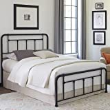Fashion Bed Group Baldwin Bed with Metal Posts and Detailed Castings, Textured Black Finish, Queen