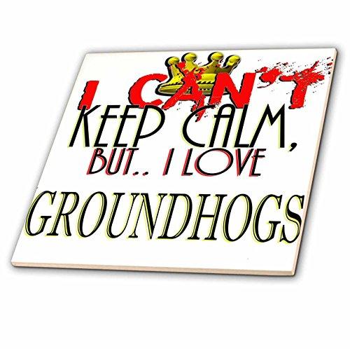 "3dRose""I Cant Keep Calm, Groundhogs Ceramic Tile 8"""