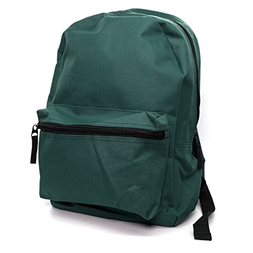 Emraw Schoolbag Travel Backpack Casual Rucksack with Adjustable Straps, Green ()
