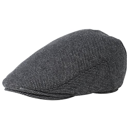 BABEYOND 1920s Gatsby Newsboy Hat Cap for Men Gatsby Hat for Men 1920s Mens Gatsby Costume Accessories (Black, Small/Medium)