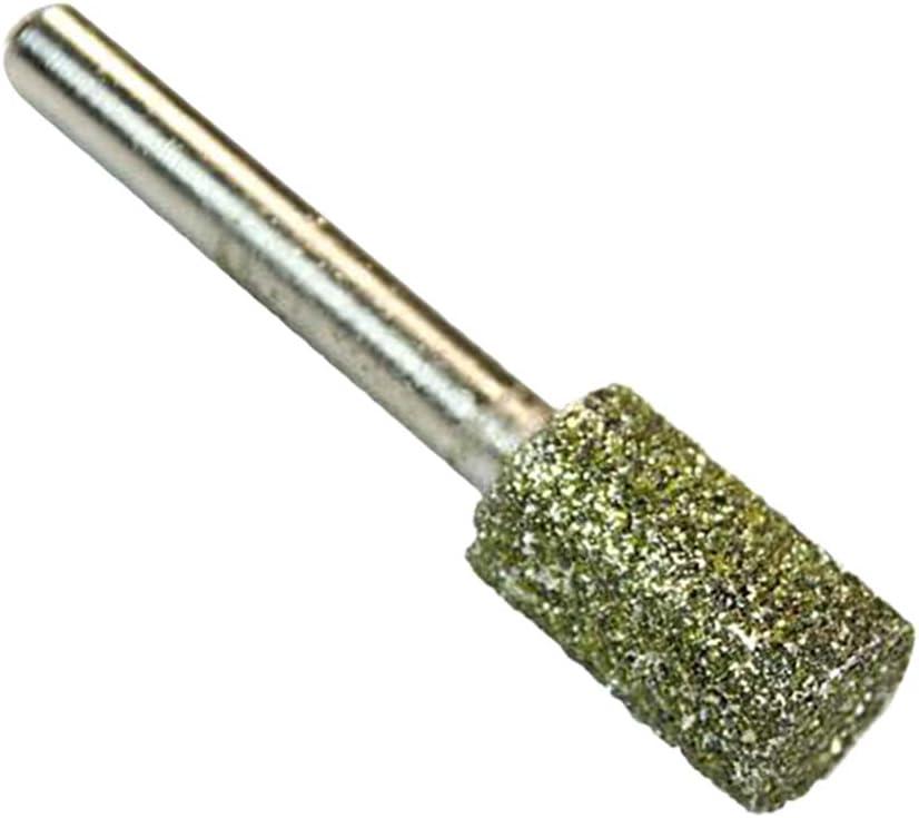 14mm 12mm /à Choisir Dia De 6//8//10 PETSOLA Le Diamant A Enduit La Meuleuse Abrasive De Cylindre De Points Mont/ée Par T/ête De Fraise Avec La Tige De 6mm