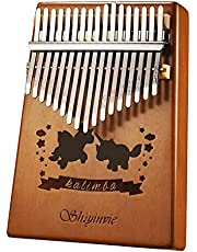 $22 » Kalimba Thumb Piano 17 Keys Musical Instrument, Mahogany Wood Mbira Finger Piano Gifts for Kids and Adults Beginners with Tune Hammer