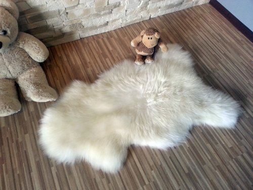 Biggest Sheepskin Rug Genuine Thick Wool Creamy