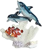 StealStreet SS-G-90114 2 Blue Dolphins with 2 Clown Fish Figurine, 8'
