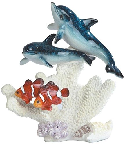 StealStreet SS-G-90114 2 Blue Dolphins with 2 Clown Fish Figurine, 8