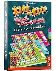 999 Games - Keer op Keer Scoreblok 3 stuks Level 5, 6 en 7 Dobbelspel - vanaf 8 jaar - Een van de beste spellen van 2019 - Inka & Markus Brand - Roll and write - 999-KEE04, meerkleurig