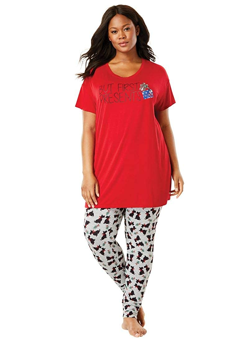 Woman Within Plus Size Soft Pj Tunic Tee - Classic Red, 18/20 16037152526mk18/20~18/20