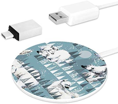 MUOOUM witte beer snelle draadloze oplader, draadloos opladen Pad 10W Unibody Fast Charging Pad Compatibel voor iPhone, airpods of een Qi enabled Smartphone