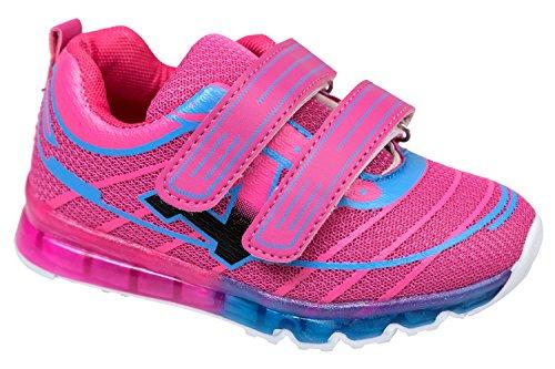 gibra - Zapatillas de sintético/textil para niño Rosa - rosa y azul