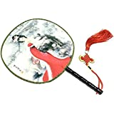 Attractive Chinese Round Fan Classical Dancing Dan With Beautiful Pattern, #2