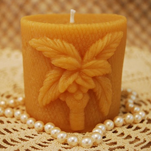 Beeswax Candle Palm Tree Shaped Pillar