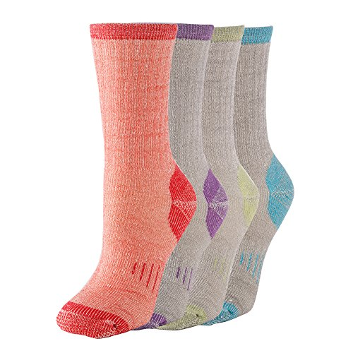 Thermal Womens Socks (Thermal 70% Merino Wool Socks Thermal Hiking Crew Winter Women's Men's 1 2 3 4 Pairs (ass 4pair))