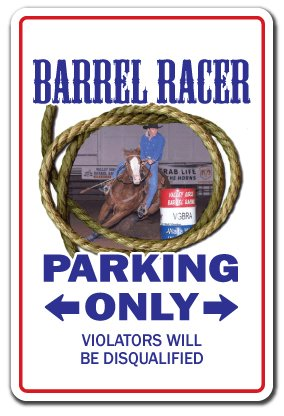 (SignMission Barrel Racer Decal Western Cowboy Rodeo Horse Sport Bronco Roping Pony tack | Indoor/Outdoor | 12