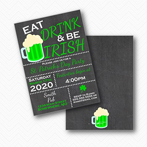 st patrick s party invitation eat drink be irish green beer