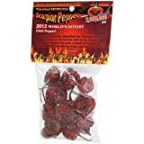 Dried Trinidad Moruga Scorpion Pepper Pods, 0.25 Ounce