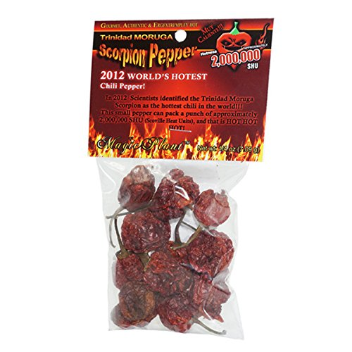 (Dried Trinidad Moruga Scorpion Pepper Pods, 0.25 Ounce)