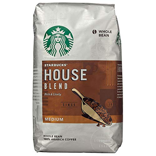 Starbucks House Blend Medium Roast Whole Bean 100 % Arabica Coffee 40 Oz (Pack of 2)