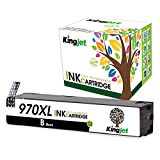 Kingjet 1 Pack 970XL Black Ink Cartridge CN625AM High Yield Compatible Replacement with Updated Chip for Officejet Pro X576dw X451dn X451dw X476dw X476dn X551dw Printers(1)