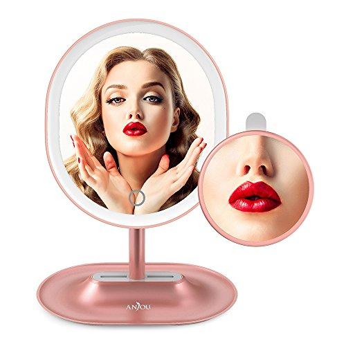化妆保养不留死角! 新品! 可充电可调光LED化妆镜1X/5X倍