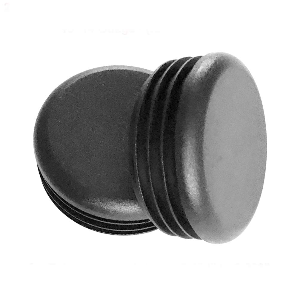 (Pack of 4) 1-3/8' OD Round Plastic Plugs (14-20 Ga - 1.21' to 1.33' ID) - Hole Size | 1.375 Inch Head Dia | Furniture Finishing caps | Fitness Eqpt End Caps | Fencing Post Inserts | by SBD SB Distribution Ltd