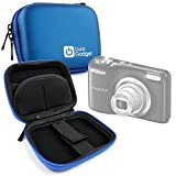 Premium Quality Blue Hard EVA Shell Case with Carabiner Clip & Twin Zips - Compatible with the Nikon Coolpix A10 | A100 | W100 Compact Camera - by DURAGADGET