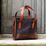 Handmade Leather Bag, Big City Bag, Natural Leather, Squer Bag, NEW