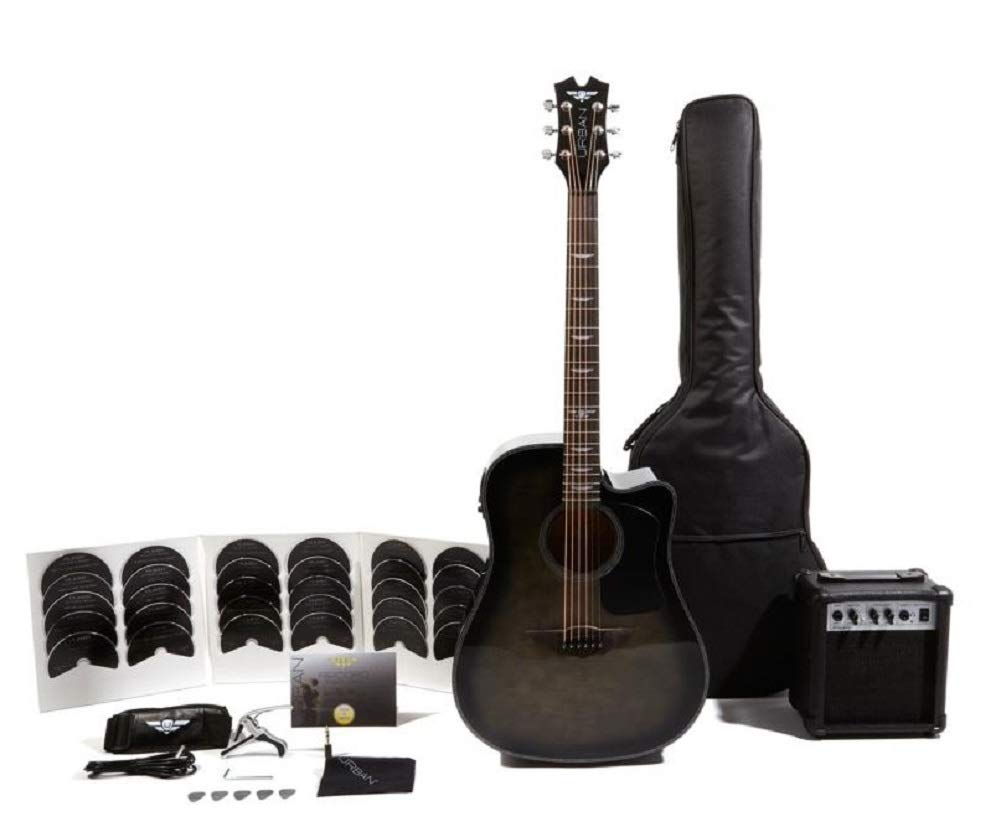 Keith Urban Acoustic-Electric Ripcord 40-piece Guitar Package - Rich Black Flame