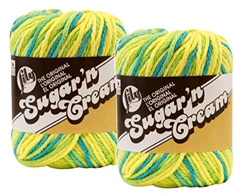 Lily Sugar 'n Cream 100% Cotton Limited Edition Yarn ~ 2-Pack (Summer Splash #2743)