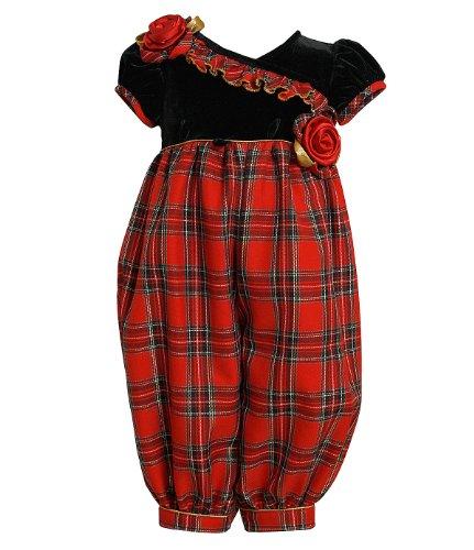 Bonnie Jean Baby-girls Christmas Outfits: Plaid Party Pant (3-6 Months) Bonnie Jean Plaid