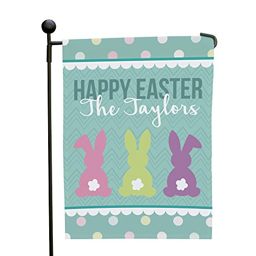 GiftsForYouNow Easter Bunny Tails Personalized Garden Flag,