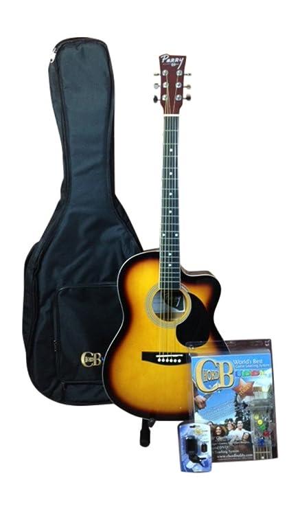 Amazon.com: ChordBuddy Youth Cutaway, Dreadnought Acoustic 3/4 Size ...