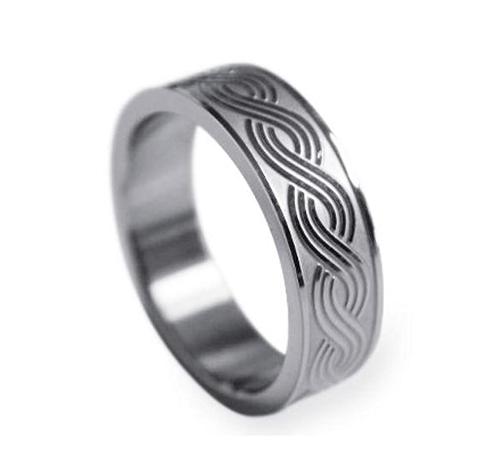 Gorgous Stainless Steel Infinity Knot Wedding band or Promise ring CoolRings
